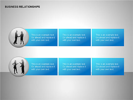 Business Relationships, Slide 14, 00179, Organizational Charts — PoweredTemplate.com