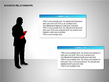 Business Relationships, Slide 2, 00179, Organizational Charts — PoweredTemplate.com