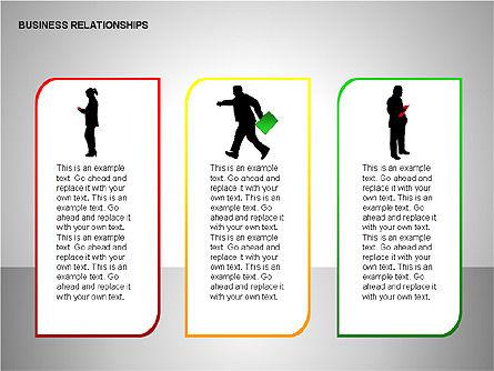 Business Relationships, Slide 3, 00179, Organizational Charts — PoweredTemplate.com