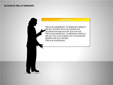 Business Relationships, Slide 4, 00179, Organizational Charts — PoweredTemplate.com