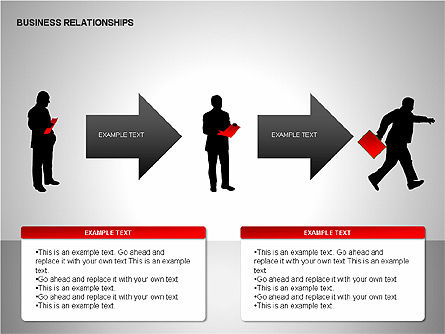 Business Relationships, Slide 8, 00179, Organizational Charts — PoweredTemplate.com