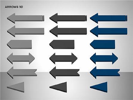 3D Forward Arrow Shapes, Slide 12, 00180, Shapes — PoweredTemplate.com