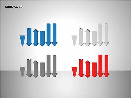 3D Forward Arrow Shapes, Slide 14, 00180, Shapes — PoweredTemplate.com