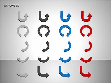 3D Forward Arrow Shapes, Slide 15, 00180, Shapes — PoweredTemplate.com