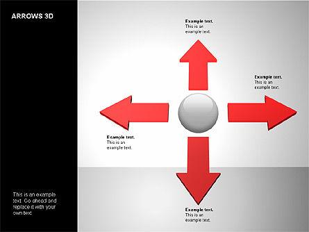 3D Forward Arrow Shapes, Slide 8, 00180, Shapes — PoweredTemplate.com