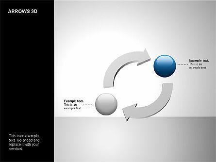 3D Forward Arrow Shapes, Slide 9, 00180, Shapes — PoweredTemplate.com