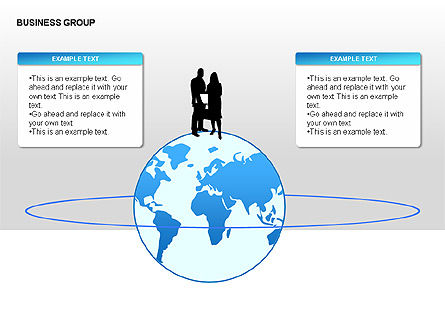 Shapes: World Business Group Diagrams #00182