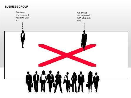 World Business Group Diagrams, Slide 10, 00182, Shapes — PoweredTemplate.com
