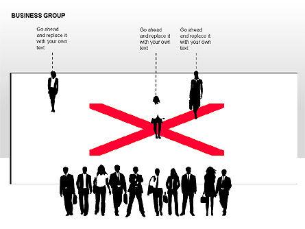 World Business Group Diagrams, Slide 11, 00182, Shapes — PoweredTemplate.com