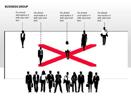 World Business Group Diagrams, Slide 13, 00182, Shapes — PoweredTemplate.com