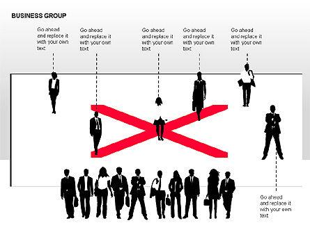 World Business Group Diagrams, Slide 14, 00182, Shapes — PoweredTemplate.com