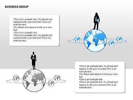 World Business Group Diagrams, Slide 15, 00182, Shapes — PoweredTemplate.com