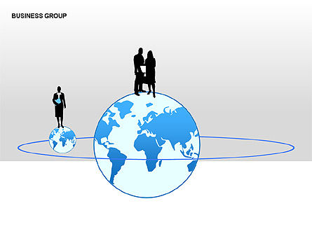 World Business Group Diagrams, Slide 2, 00182, Shapes — PoweredTemplate.com