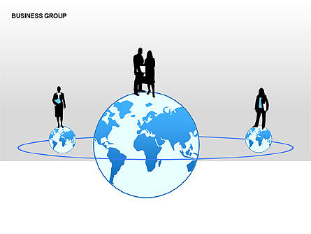World Business Group Diagrams, Slide 3, 00182, Shapes — PoweredTemplate.com