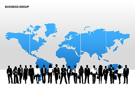 World Business Group Diagrams, Slide 5, 00182, Shapes — PoweredTemplate.com