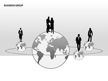 World Business Group Diagrams, Slide 6, 00182, Shapes — PoweredTemplate.com