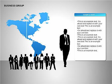 World Business Group Diagrams, Slide 7, 00182, Shapes — PoweredTemplate.com
