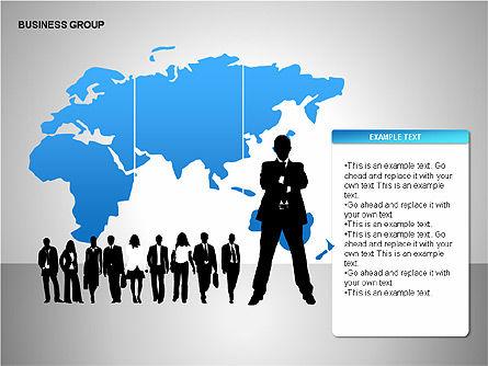 World Business Group Diagrams, Slide 8, 00182, Shapes — PoweredTemplate.com