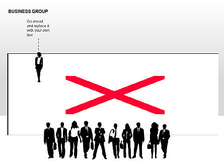 World Business Group Diagrams, Slide 9, 00182, Shapes — PoweredTemplate.com