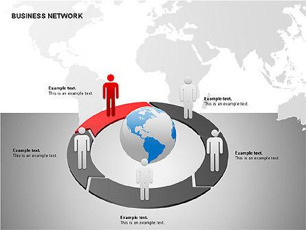 Business Networking Diagrams, Slide 10, 00184, Business Models — PoweredTemplate.com
