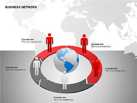 Business Networking Diagrams, Slide 12, 00184, Business Models — PoweredTemplate.com
