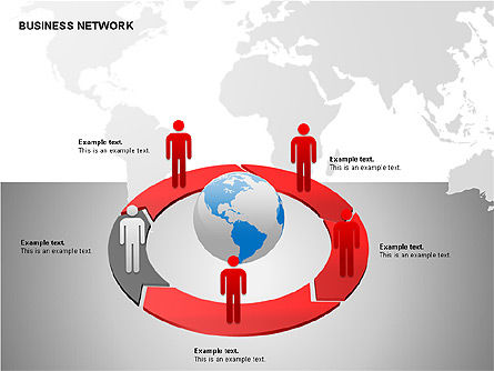 Business Networking Diagrams, Slide 13, 00184, Business Models — PoweredTemplate.com