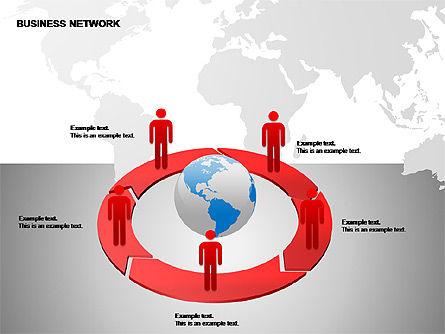 Business Networking Diagrams, Slide 14, 00184, Business Models — PoweredTemplate.com