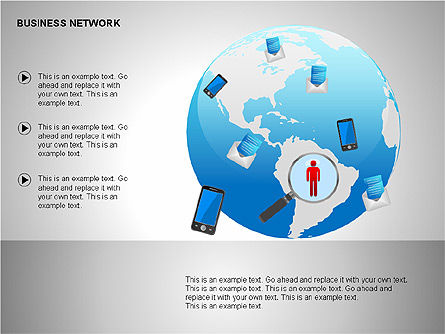 Business Networking Diagrams, Slide 19, 00184, Business Models — PoweredTemplate.com