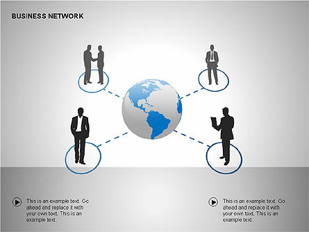 Business Networking Diagrams, Slide 2, 00184, Business Models — PoweredTemplate.com