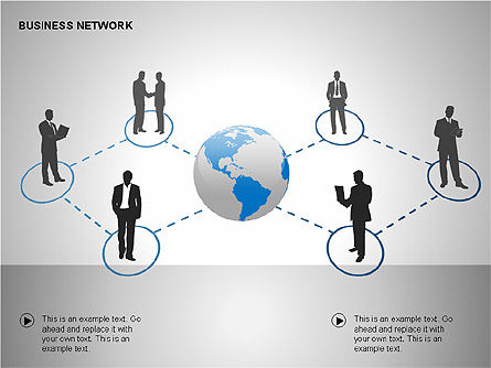 Business Networking Diagrams, Slide 3, 00184, Business Models — PoweredTemplate.com