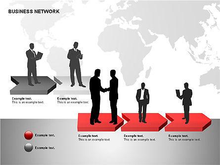 Business Networking Diagrams, Slide 8, 00184, Business Models — PoweredTemplate.com