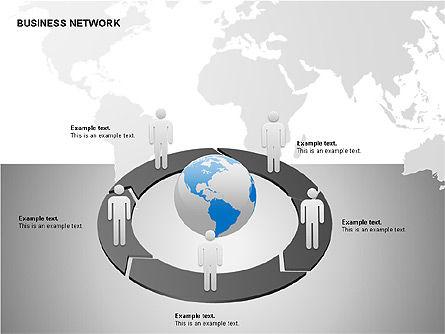 Business Networking Diagrams, Slide 9, 00184, Business Models — PoweredTemplate.com