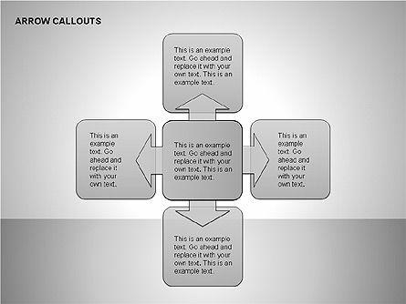 Gray Arrow Callouts, Slide 13, 00186, Shapes — PoweredTemplate.com
