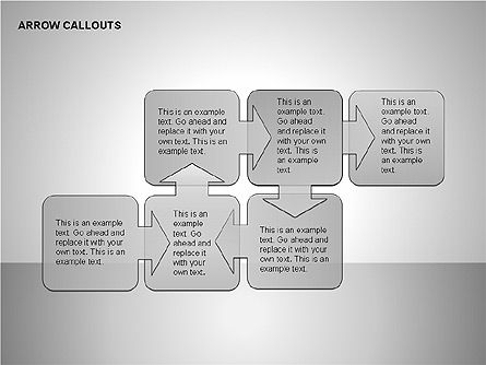 Gray Arrow Callouts, Slide 14, 00186, Shapes — PoweredTemplate.com