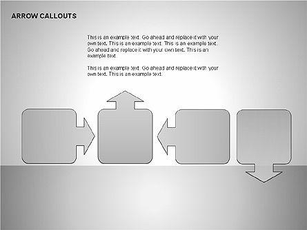 Gray Arrow Callouts, Slide 17, 00186, Shapes — PoweredTemplate.com