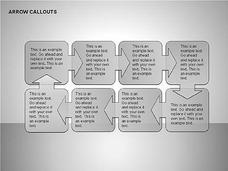 Gray Arrow Callouts, Slide 6, 00186, Shapes — PoweredTemplate.com