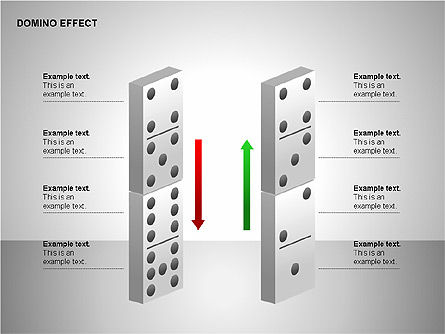 Domino Effect Charts, Slide 10, 00187, Process Diagrams — PoweredTemplate.com