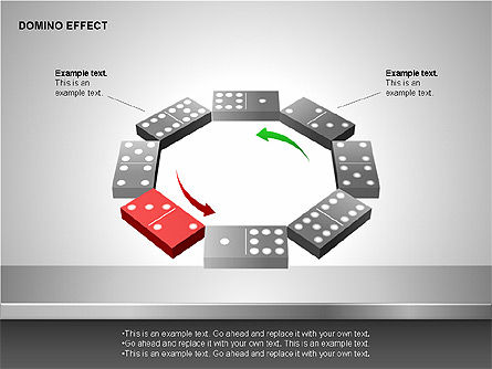 Domino Effect Charts, Slide 11, 00187, Process Diagrams — PoweredTemplate.com
