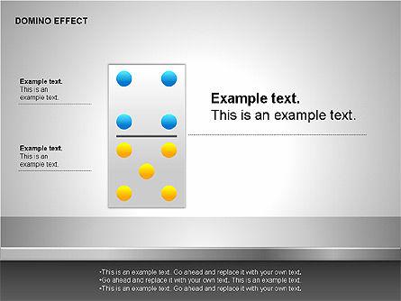 Domino Effect Charts, Slide 12, 00187, Process Diagrams — PoweredTemplate.com