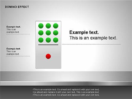 Domino Effect Charts, Slide 13, 00187, Process Diagrams — PoweredTemplate.com
