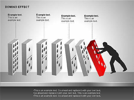 Domino Effect Charts, Slide 14, 00187, Process Diagrams — PoweredTemplate.com