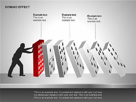 Domino Effect Charts, Slide 15, 00187, Process Diagrams — PoweredTemplate.com