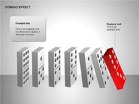 Domino Effect Charts, Slide 2, 00187, Process Diagrams — PoweredTemplate.com