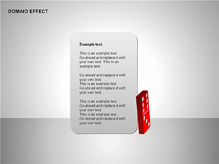 Domino Effect Charts, Slide 3, 00187, Process Diagrams — PoweredTemplate.com
