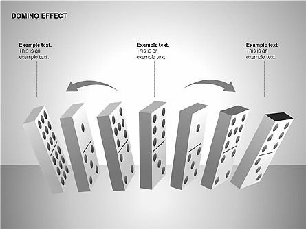 Domino Effect Charts, Slide 5, 00187, Process Diagrams — PoweredTemplate.com