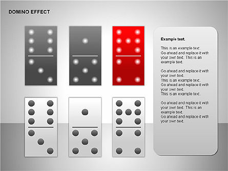 Domino Effect Charts, Slide 6, 00187, Process Diagrams — PoweredTemplate.com