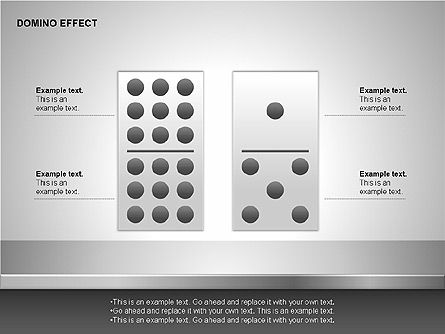 Domino Effect Charts, Slide 7, 00187, Process Diagrams — PoweredTemplate.com