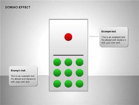 Domino Effect Charts, Slide 8, 00187, Process Diagrams — PoweredTemplate.com
