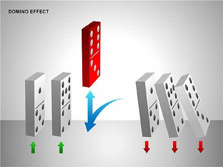 Domino Effect Charts, Slide 9, 00187, Process Diagrams — PoweredTemplate.com