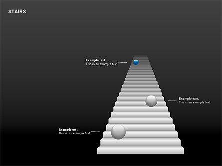 Stairs Charts, Slide 10, 00188, Stage Diagrams — PoweredTemplate.com